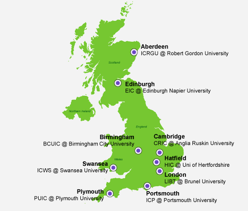 Navitas Pathway UK Map