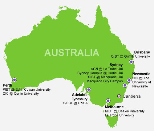 Navitas Pathway Australia Map