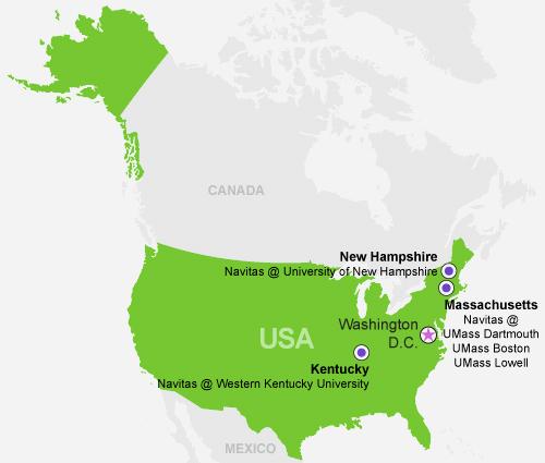 Navitas Pathway USA Map